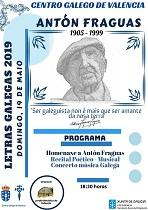 Día das Letras Galegas 2019, en Valencia