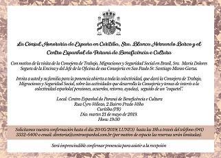 Charla informativa sobre asuntos sociolaborales, en Curitiba