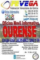 Oficina informativa móbil de FEVEGA, en Ourense