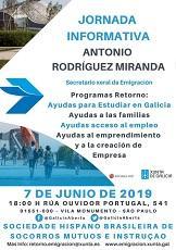 Charla informativa del secretario xeral da Emigración de la Xunta de Galicia, en São Paulo