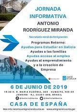 Charla informativa do secretario xeral da Emigración da Xunta de Galicia, en Río de Xaneiro