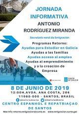 Charla informativa do secretario xeral da Emigración da Xunta de Galicia, en Santos