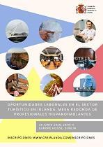 'Oportunidades laborales en el sector turístico: mesa redonda con profesionales hispanohablantes', en Dublín