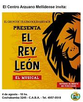 """""""El Rey León"""", musical solidario en Bos Aires"""