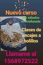 Curso de encaixe de palillos, en Avellaneda