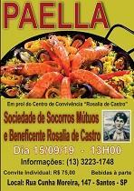 Paella a beneficio del Centro de Convivencia de la Sociedade de Socorros Mútuos e Beneficente Rosalía de Castro de Santos