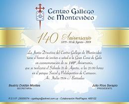 140º aniversario del Centro Gallego de Montevideo