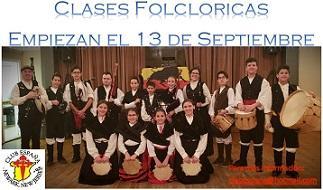 Clases de folclore galego 2019-2020, no Club España de Newark