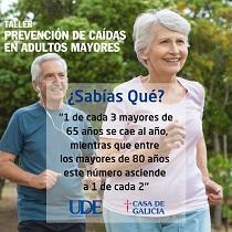 Taller de prevención de caídas en adultos/as maiores, na Casa de Galicia de Montevideo