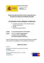 Xornada informativa 'Tus derechos como trabajador en Alemania', en Essen