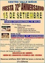 72º Aniversario e Torneo Internacional de Bolos Celta do Val Miñor de Montevideo
