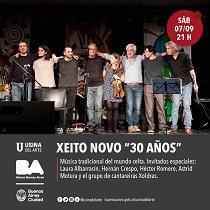 """Concerto """"Xeito Novo - 30 años"""", en Bos Aires"""