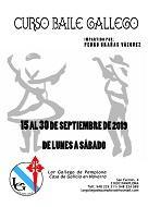 Obradoiro de baile galego 2019, no Lar Galego de Pamplona