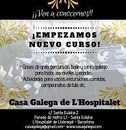 Clases de folclore galego 2019-2020 da Casa Galega de L'Hospitalet