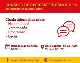 Charla informativa do CRE de Bos Aires, en La Plata