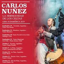 'La Hermandad de los Celtas', concierto de Carlos Núñez en el Teatro Coliseo de Buenos Aires