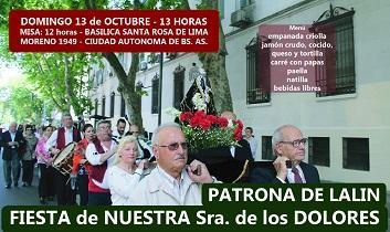 Fiesta de Nuestra Señora de los Dolores 2019, en el Centro Lalín, Agolada y Silleda de Buenos Aires