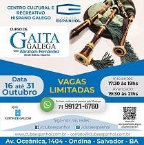 Obradoiro de gaita galega 2019, en Salvador de Baía