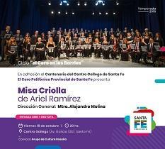 """Concierto """"Misa criolla de Ariel Ramírez"""", en Santa Fe"""