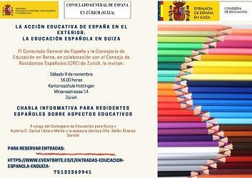 Charla informativa 'La acción educativa de España en el exterior. La educación española en Suiza', en Zürich