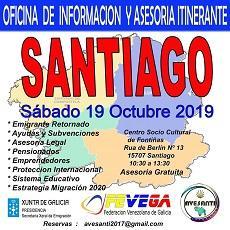 Oficina de información y asesoría itinerante de AVESANTI, FEVEGA y APEJUVEG, en Santiago de Compostela