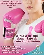 Jornada de despistaje del cáncer de mama, en la Hermandad Gallega de Venezuela