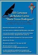 """XII Certame de relatos curtos """"María Teresa Rodríguez"""" do Lar Galego de Sevilla"""