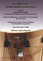 Clases de percusión galega, en Bos Aires