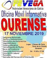 Oficina informativa móvil de FEVEGA y APEJUVEG, en Ourense