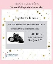 Mostra fin de curso 2019 da Escola de danza rexional galega do Centro Galego de Montevideo