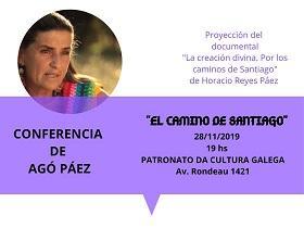"""Conferencia sobre el Camino de Santiago y proyección del documental """"La creación divina. Por los caminos de Santiago"""", en Montevideo"""