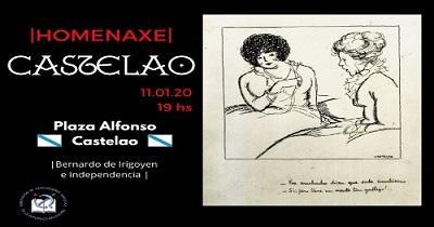 Homenaxe a Castelao 2020, en Bos Aires