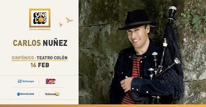 """""""Sinfónico"""", concierto de Carlos Núñez, en Buenos Aires"""