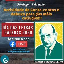 Día das Letras Galegas 2020 para las niñas y niños gallegos del exterior