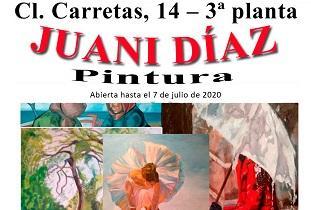 Exposición de pintura de Juani Díaz, no Centro Galego de Madrid