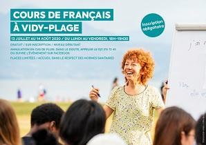 Curso de francés na Praia de Vidy - Cours de français à Vidy-Plage 2020, en Lausanne