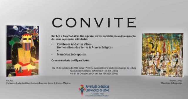 Exposicións de Rui Aço e Ricardo Laires, no Centro Galego de Lisboa