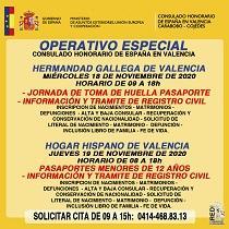 Operativo especial do Consulado Honorario de España en Valencia