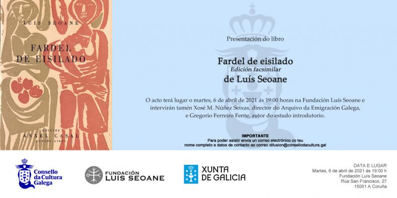 """Presentación de """"Fardel de eisilado"""", de Luis Seoane, na Coruña"""