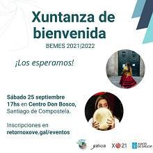 Xuntanza de bienvenida de la Asociación de Jóvenes Emigrantes Retornados en Galicia – AJERGA  a las y los becarios BEME 2021-2022