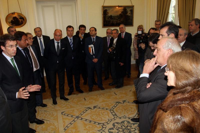 Feijóo no acto da Plataforma Empresarial Pexga en Bos Aires.