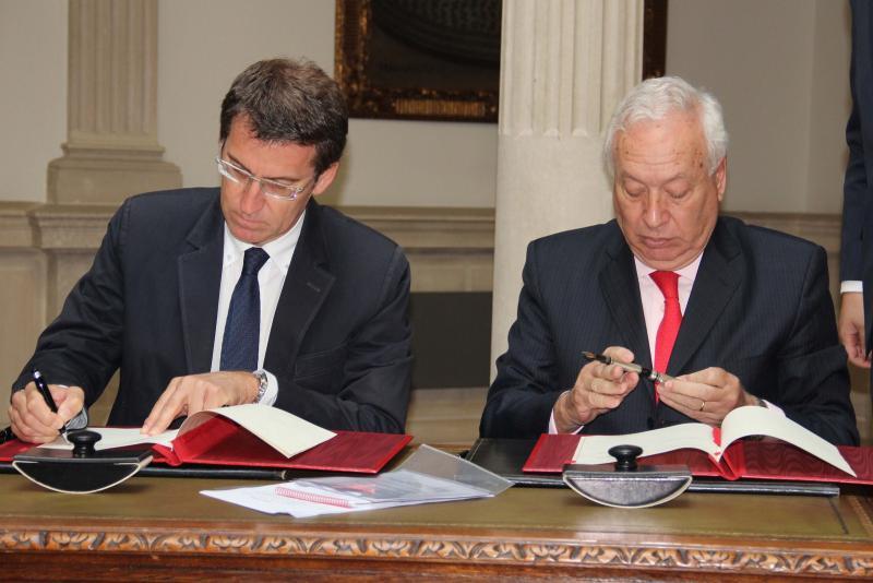 O presidente da Xunta reuniuse onte co ministro García-Margallo
