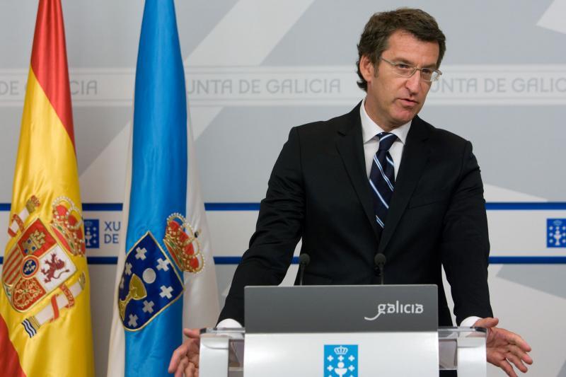 Alberto Núñez Feijóo durante a súa intervención tras a reunión extraordinaria do Consello da Xunta. Foto: Ana Varela.