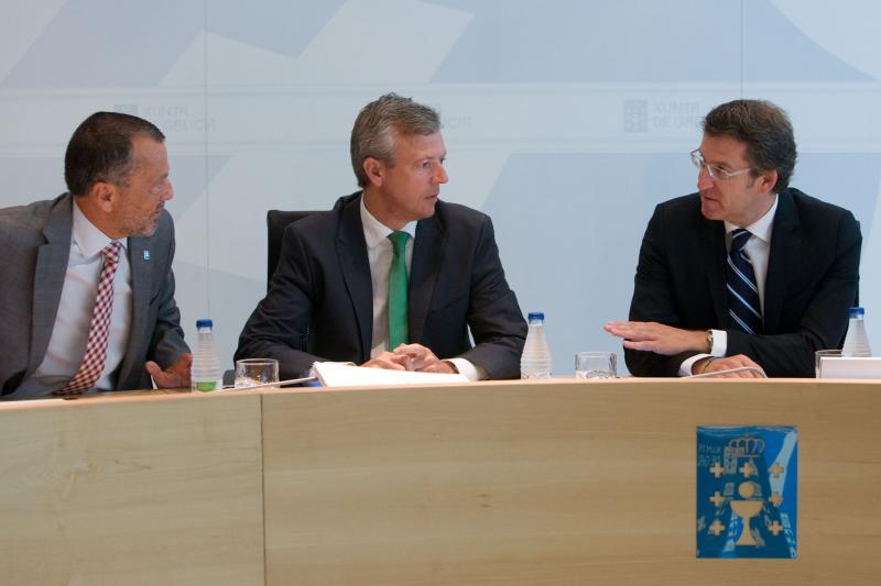 Alberto Núñez Feijoo presidiu onte a reunión extraordinaria do Consello da Xunta.