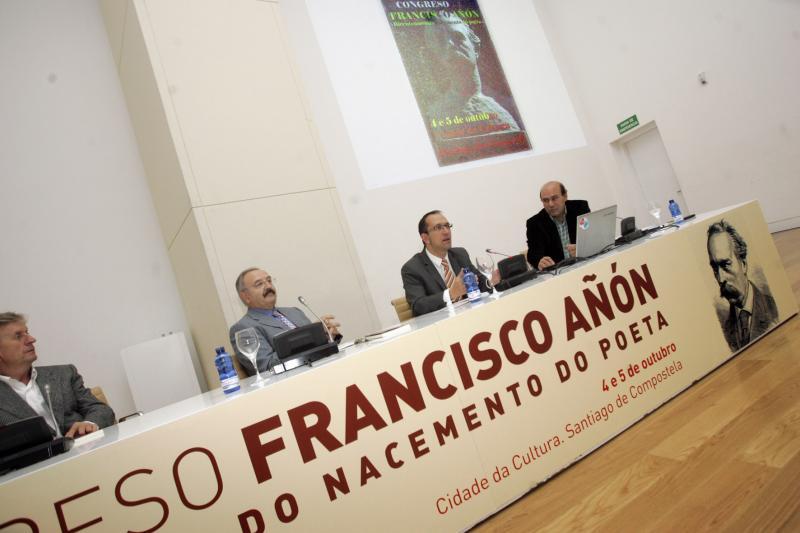 Anxo Lorenzo no Congreso 'Francisco Añón' na Cidade da Cultura.