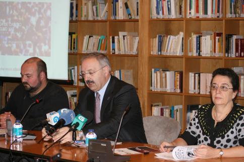 O presidente do Consello da Cultura Galega, Ramón Villares, durante a presentación do Congreso. Foto: CCG.