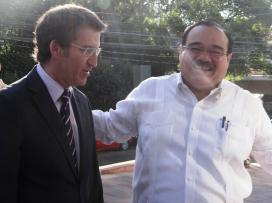 El presidente de la Xunta, en el encuentro que mantuvo con el ministro de Desarrollo Agrario de México.