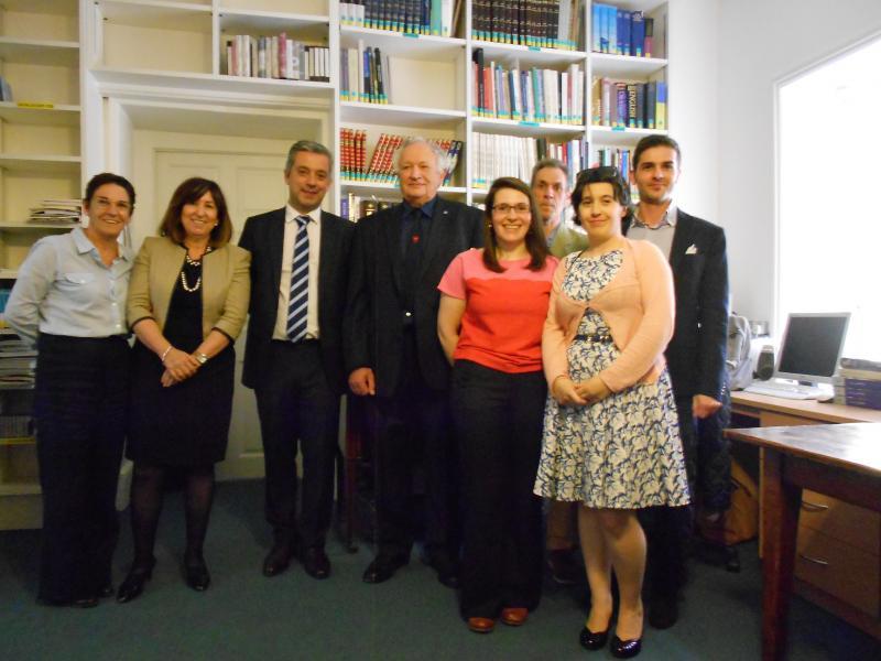 García participou na homenaxe que o CEG de Oxford lle rendeu ao tradutor e hispanista que o fundou en 1991, John Rutherford