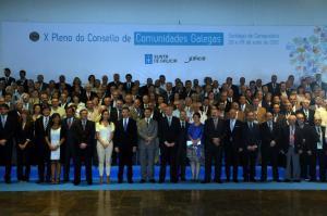 Foto de arquivo da apertura do X Pleno do Consello de Comunidades Galegas, celebrado en Santiago de Compostela o pasado verán