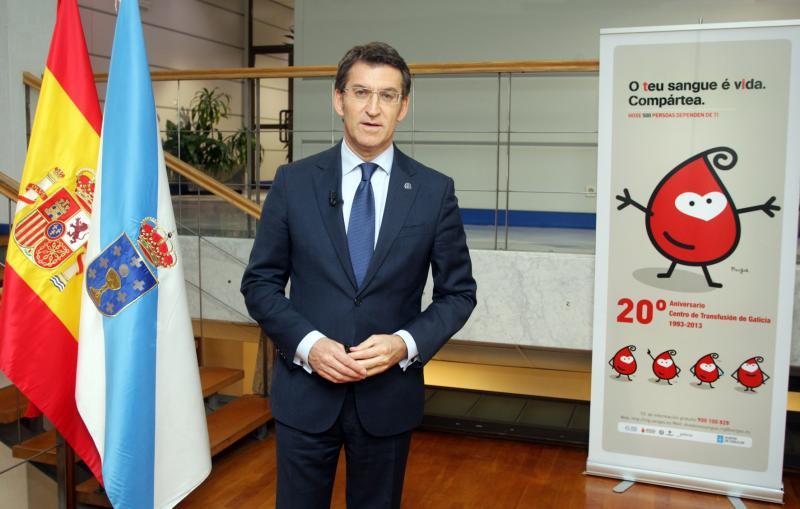 El presidente de la Xunta de Galicia, Alberto Núñez Feijóo, pronunció hoy su discurso de Fin de Año. Foto: Conchi Paz